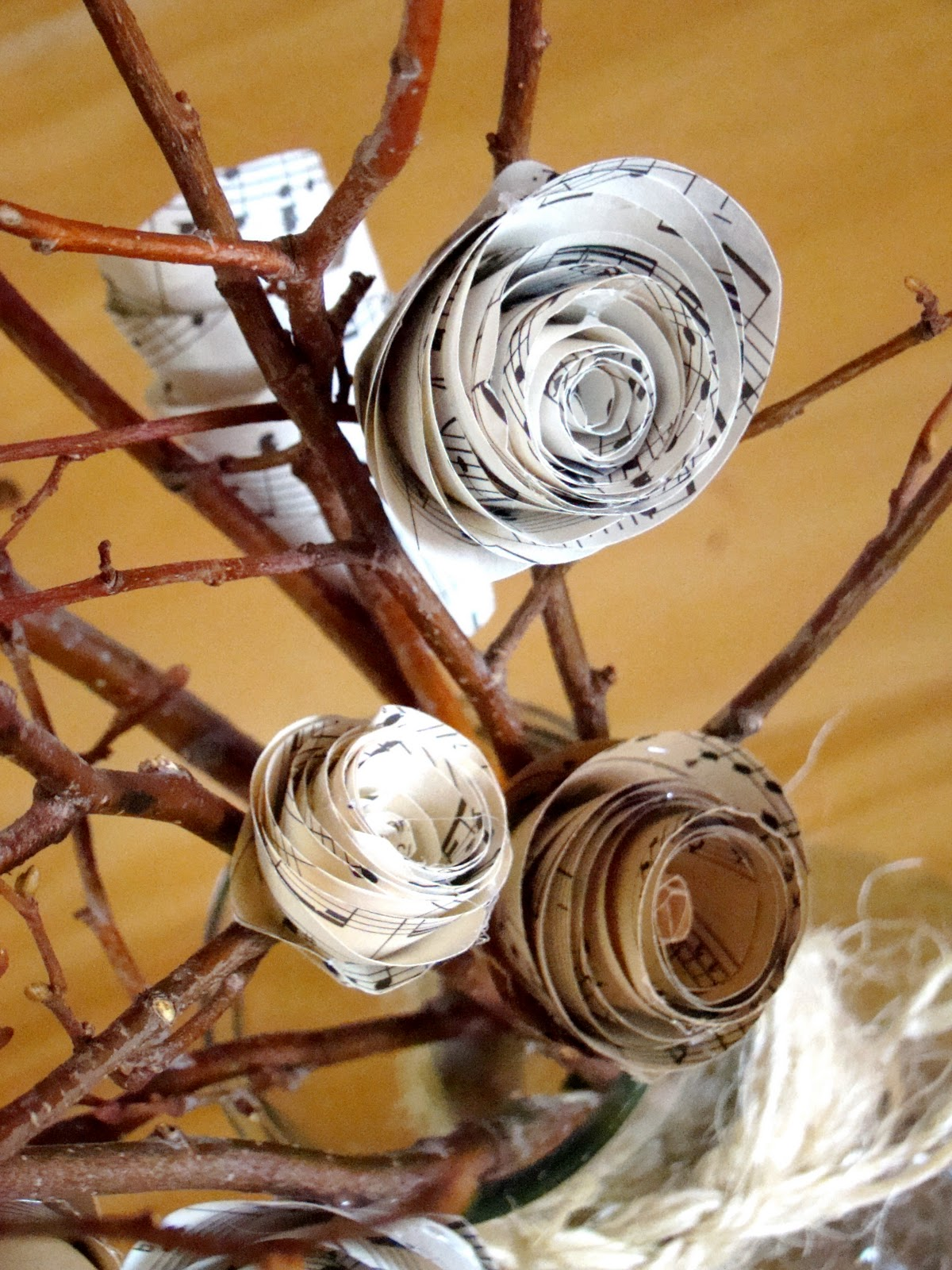 Make Paper Flowers With Sheet Music