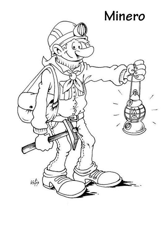 mineração desenho para colorir : Colorir desenhos