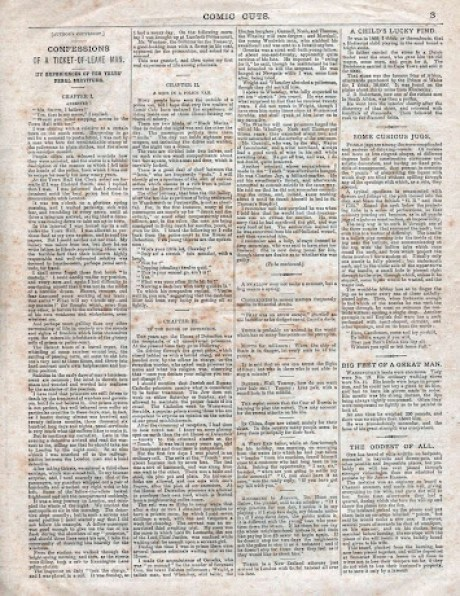 A page from the first issue of Comic Cuts