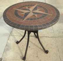 Uhuru Furniture & Collectibles Sold - Iron And Tile Patio