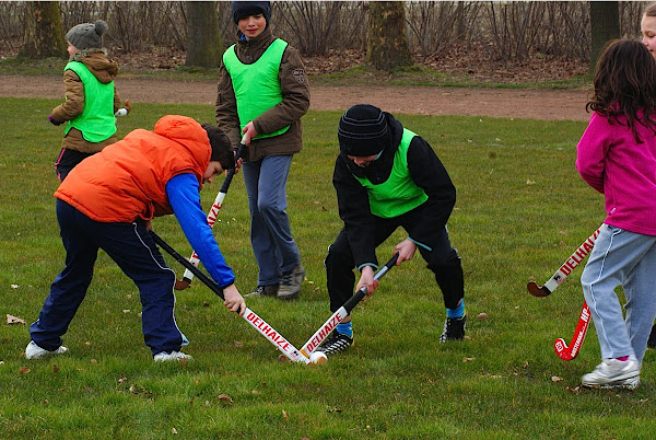 wedstrijdje hockey in Roeselare