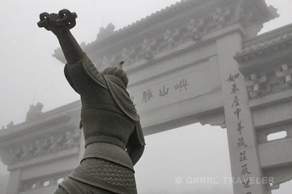 Entrance to the big buddha lantau island