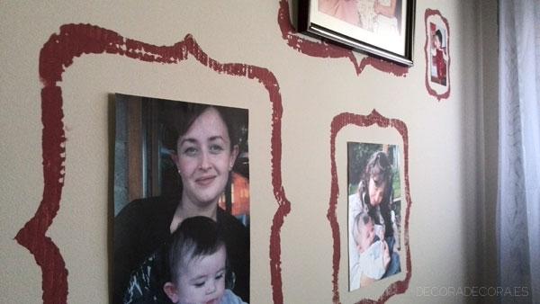 Pintar marcos y decorar con marsala