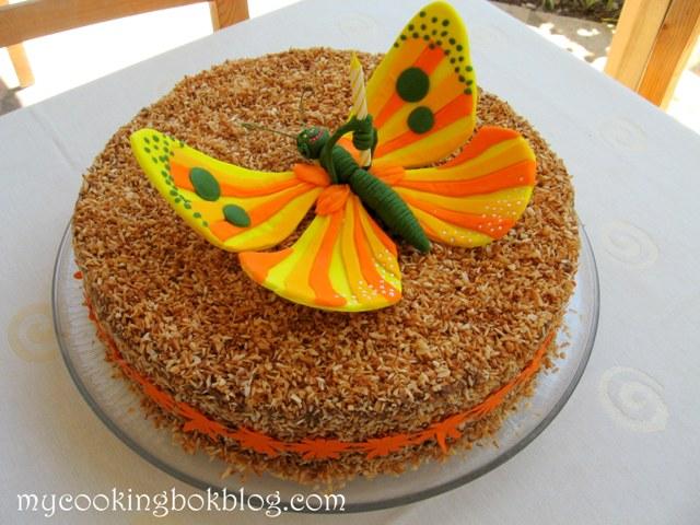Торта с пеперуда