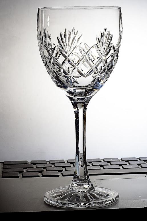 An empty glass.