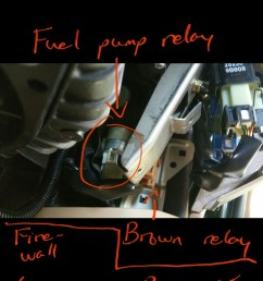 5 now you have located the relay if you are just disconnecting the relay to crank the fuel out of the system unplug the relay and stop here  [ 695 x 1236 Pixel ]