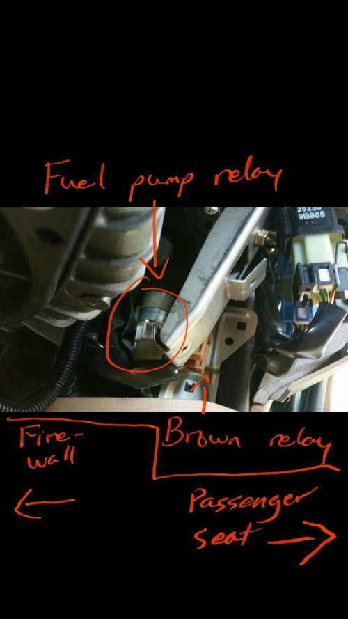 small resolution of  5 now you have located the relay if you are just disconnecting the relay to crank the fuel out of the system unplug the relay and stop here