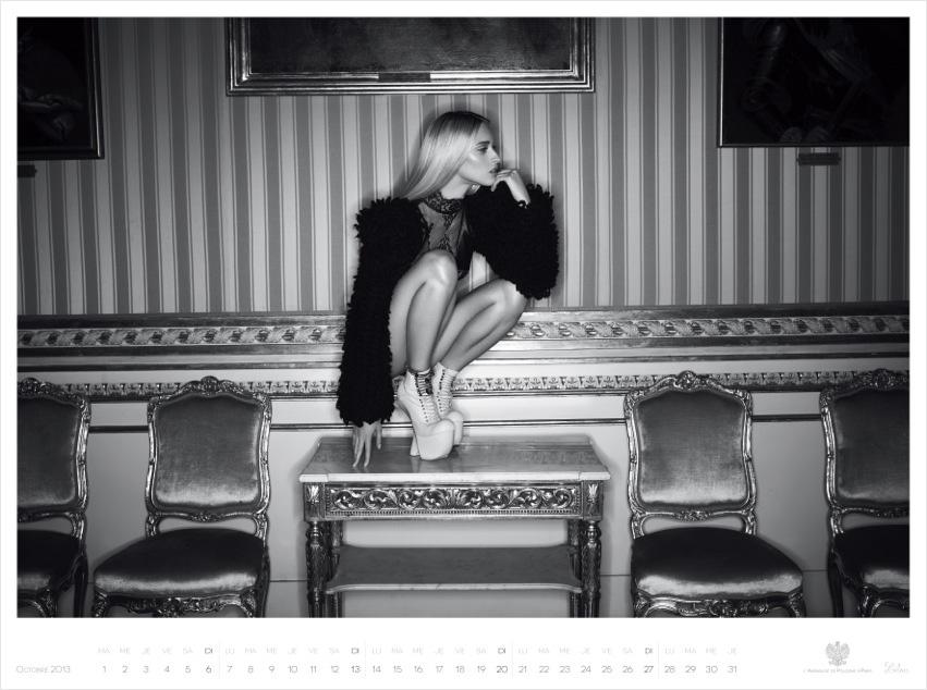 *Piotr Stoklosa 鍾情洛可可:拍攝系列 2013 Polish Embassy in Paris年曆! 3