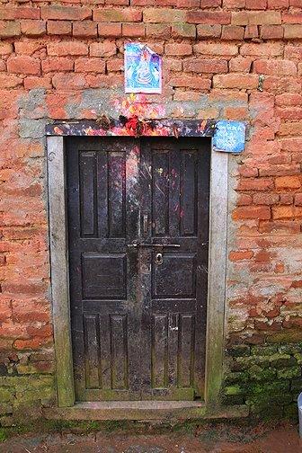HIndu house markings in Nepal