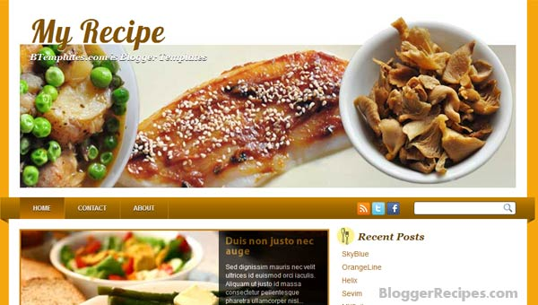 Restaurant Food Recipes Powerpoint Templates For Free