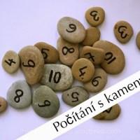 Učíme se číslovky s kamínky