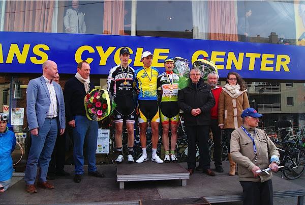 Podium PK West-Vlaanderen 2013: Thomas Vanhaecke voor Bart Kuypers en Isaak Bultynck