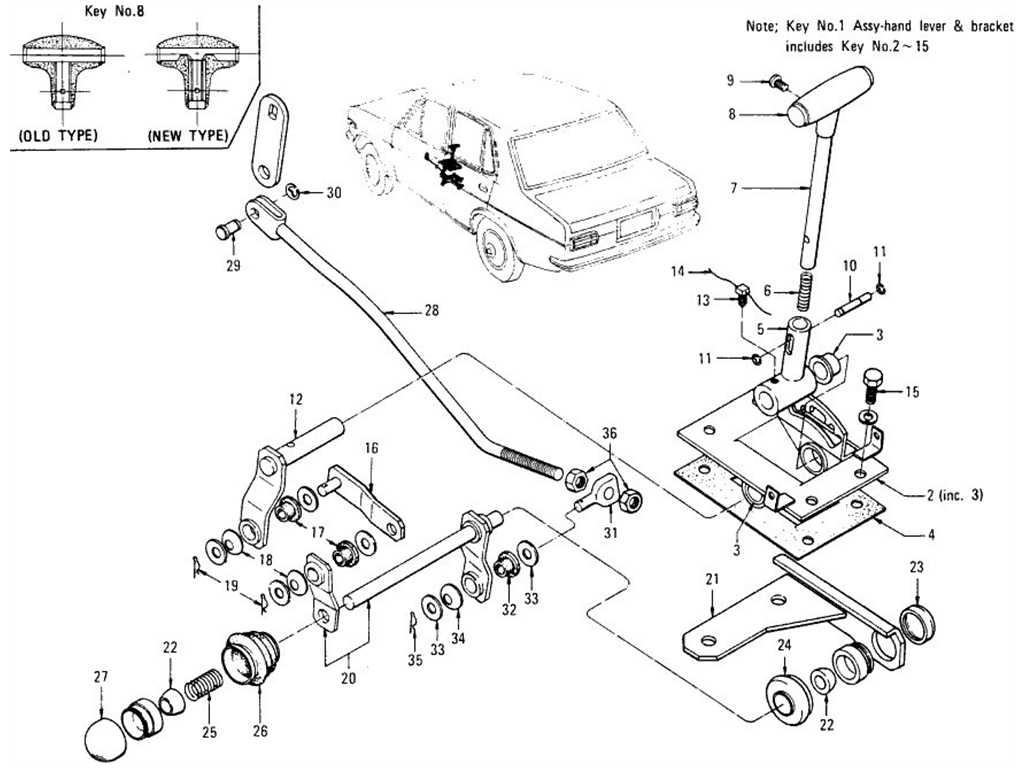 Datsun 1200 Transmission Control Floor Shift Type (Automatic)