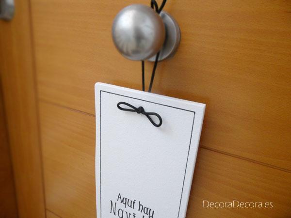 Adorno puerta Navidad hecho a mano