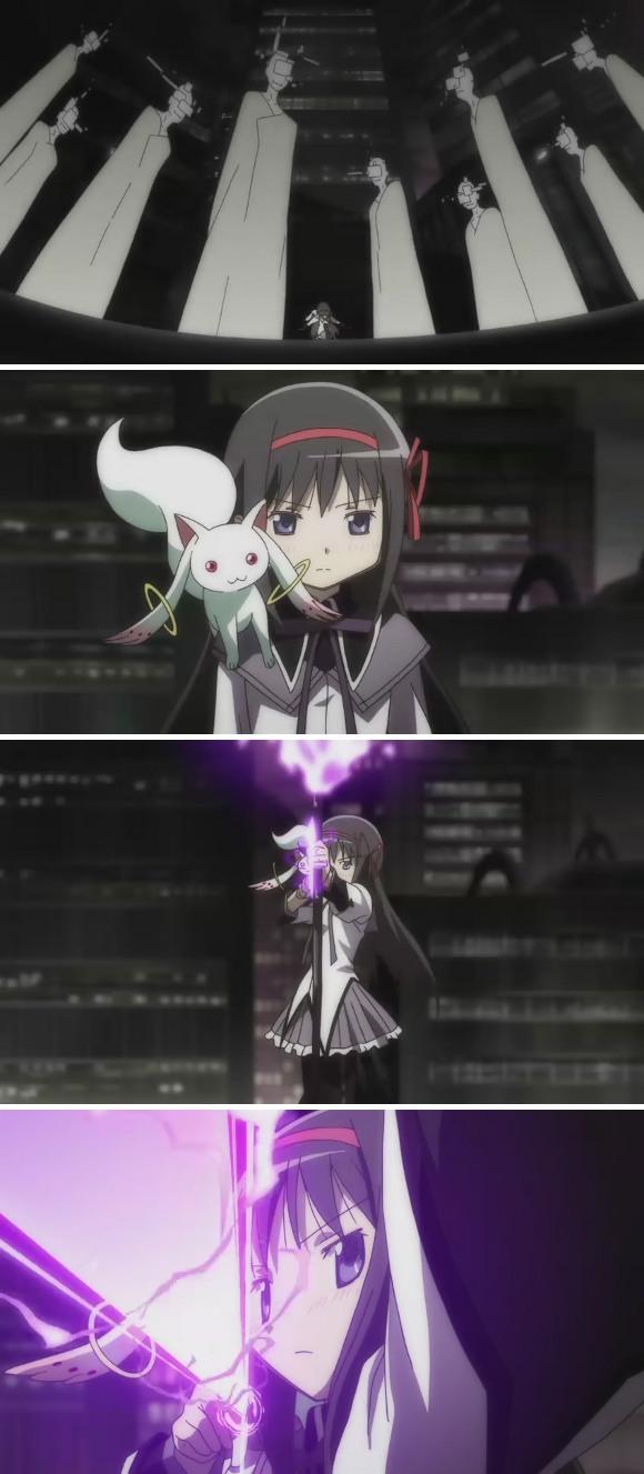 光與影與粉紅色的泡泡: [Madoka]魔法少女小圓第12話截圖