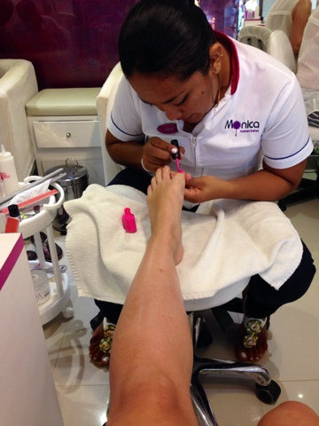 Manicure And Pedicure Is 349 Mxn Gel Colours Starts From 399