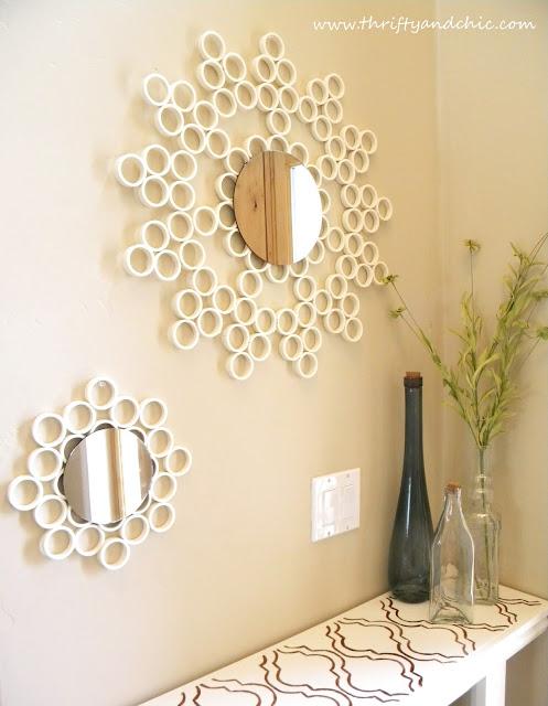 PVC Ring Mirror | 30 Amazing DIY Mirrors
