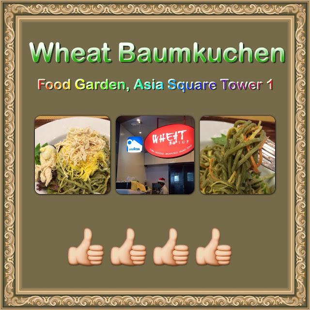 Wheat Baumkuchen Food Garden Asia Square Tower 1 Aldora Muses