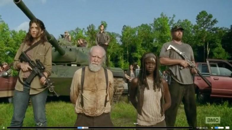 The Walking Dead Season 4 Episode 8 Hershel and Michonne