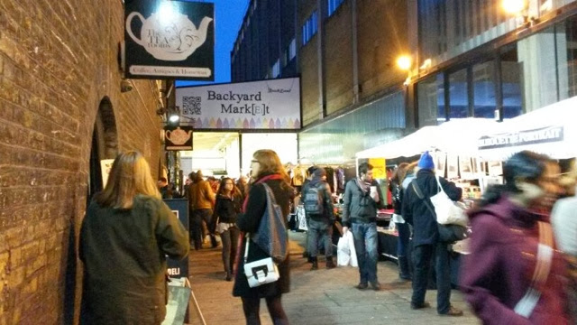 The entrance to the Backyard market in Brick Lane