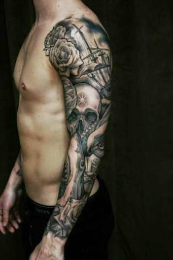 Mexican Skull Tattoo Sleeve