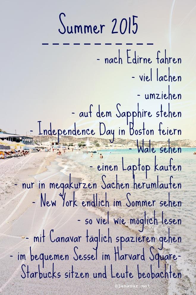 Summer 2015 To-do List