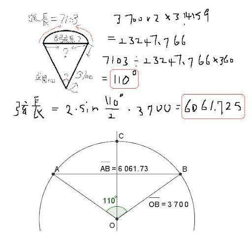 求弦長和圓心角的公式   Yahoo 知識+