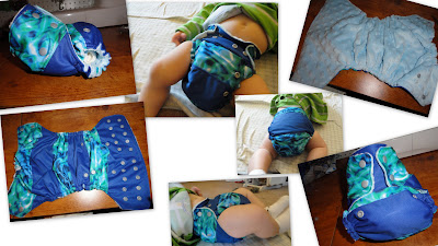 Stripey Diaper using Splash Pul
