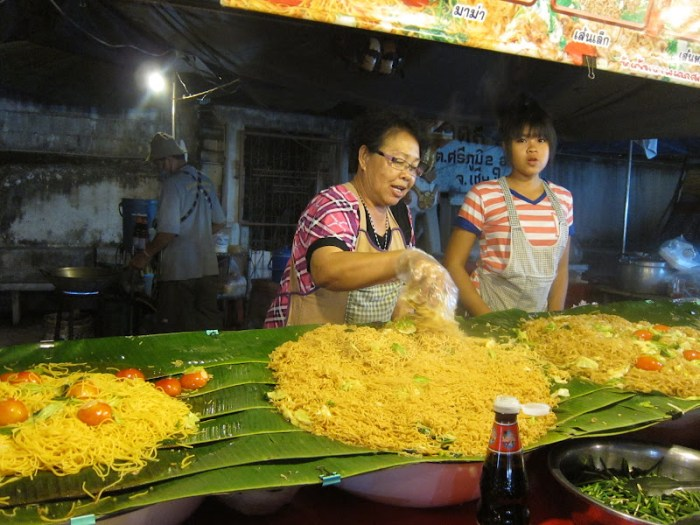 food stall in Chiang Mai Sunday market