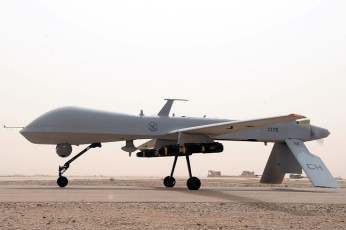 An MQ-1B Predator from the 361st Expeditionary Reconnaissance Squadron takes off July 9, 2008 from Ali Base, Iraq.