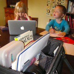 containing homeschool clutter