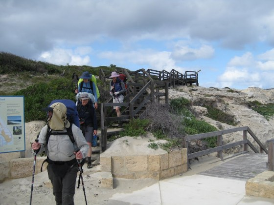 Coming down on to Redgate Beach - Cape to Cape Track