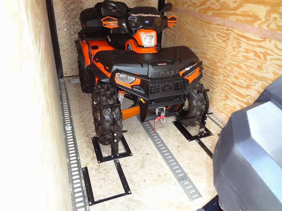 The perfect way to tie down a ATV or UTV  Yamaha Grizzly