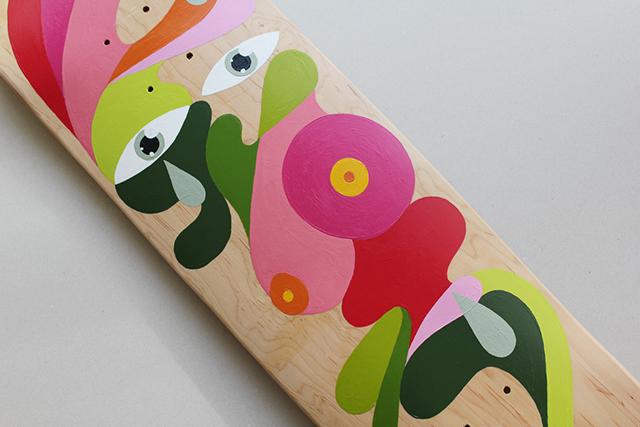 *手繪臉部色塊相拼滑板:藝術家Oli-B幾何創作! 3