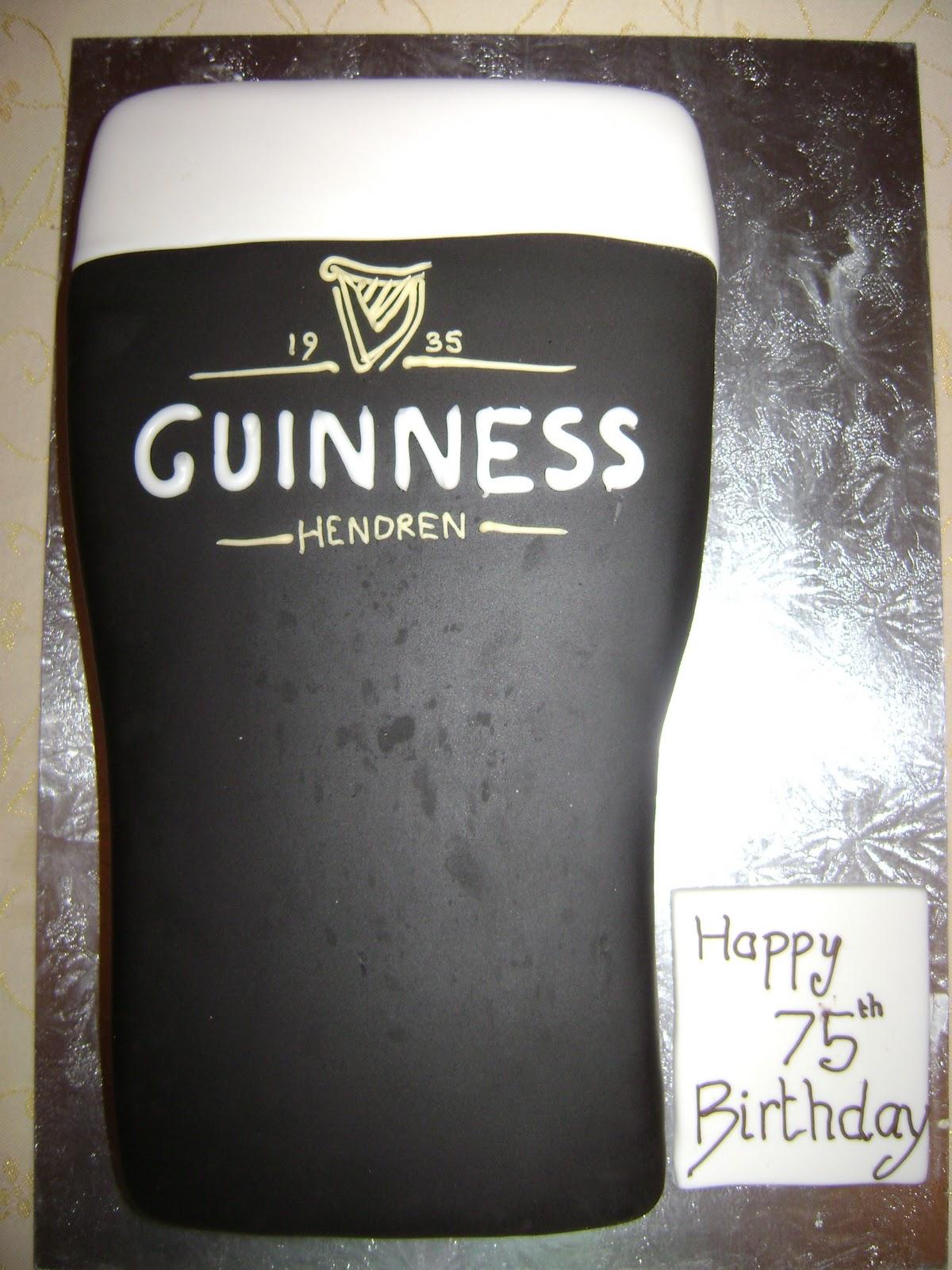 Caroline Jane Cakes Pint Of Guinness Birthday Cake