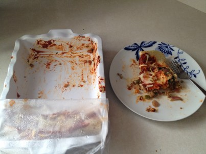 Enchilada leftovers