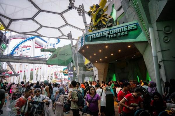 Transformers the ride  新加坡環球影城