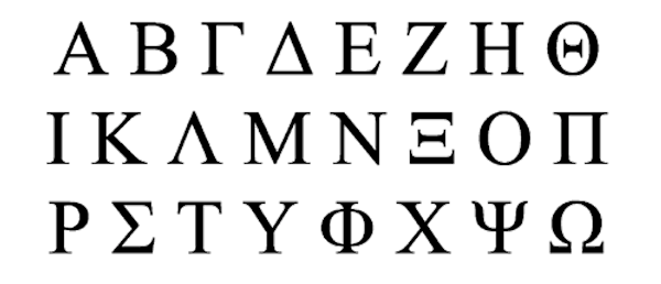 How to write greece in the greek alphabet