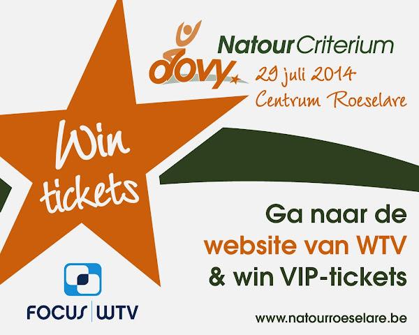 Als VIP naar het natourcriterium Roeselare dankzij Focus-WTV