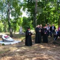 Uroczystość zakończenia prac porządkowych na cmentarzu protestanckim w Słońsku Górnym