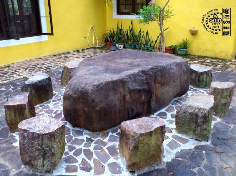 特大號石桌石椅~魔法咖啡屋戶外