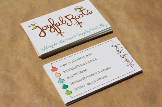 Joyful Roots Business Cards Design and Graphic Design