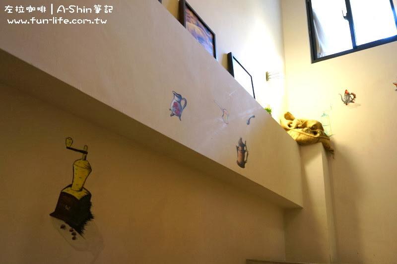 牆壁走蝶古巴特風-ZOLA左拉咖啡館
