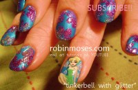 """Robin Moses Nail Art: """"TINKERBELL nail art design ..."""