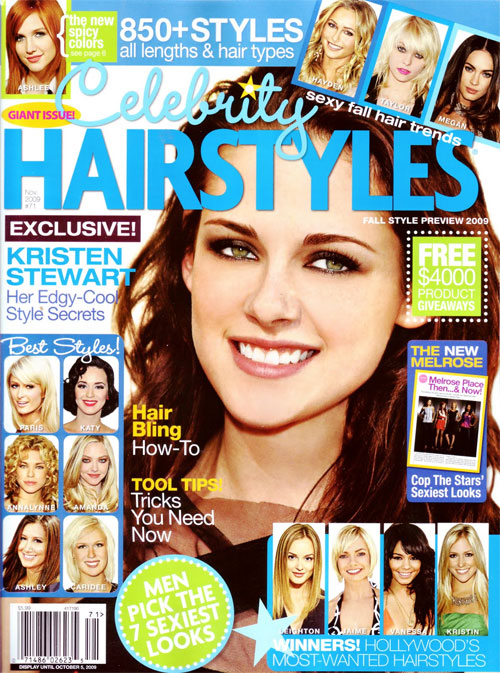 Hairstyle And Haircare Celebrity Hairstyles Magazine Cover