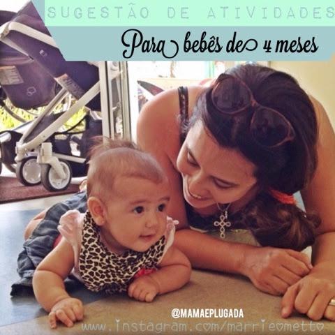 Atividades e brincadeiras para bebês de 4 meses