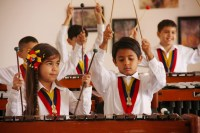 Niños y niñas pertenecientes al Ensamble Infantil de Percusión demostraron el trabajo que han desarrollado como parte del Conservatorio de Música del estado Zulia