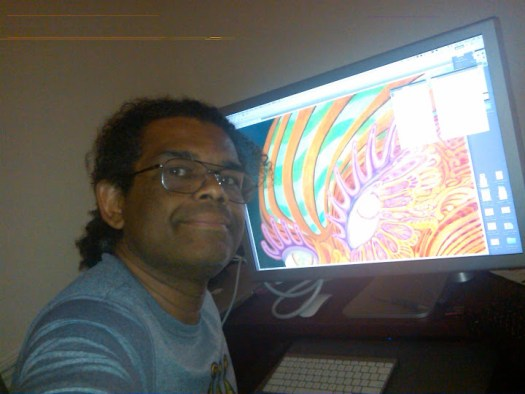 Lonnie drawing using digital methods