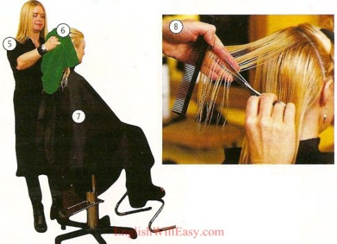 Coiffeur, salon de beauté-Body-Picture dictionary