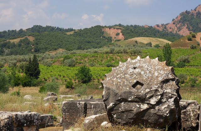 a fallen column at Sardis